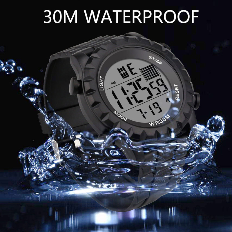 Unisex Males Quartz Watch Sports Casual LED Watch Retro Digital Display Date Electronics Men Clock Wristwatch Relogio Masculino in Quartz Watches from Watches