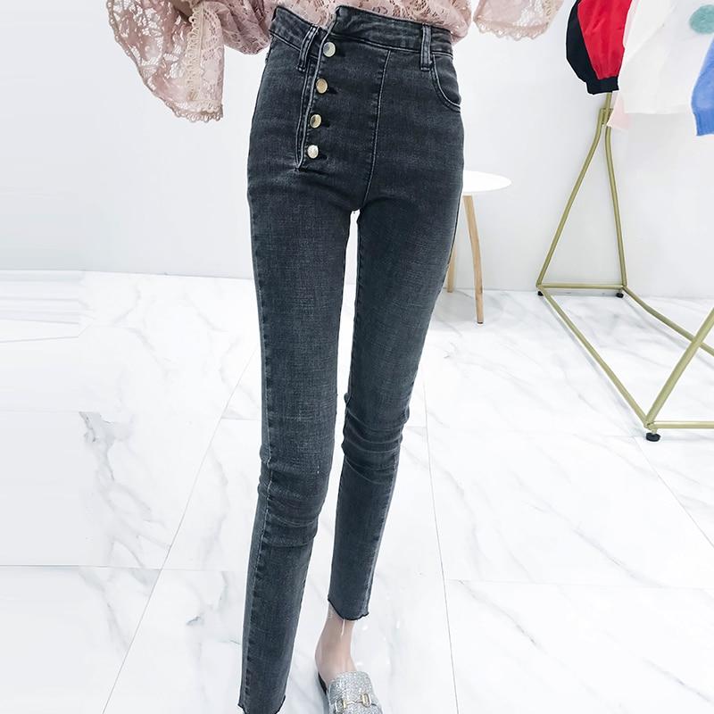 Cheap Wholesale 2018 New Autumn Winter Hot Selling Women's Fashion Casual  Denim Pants L581