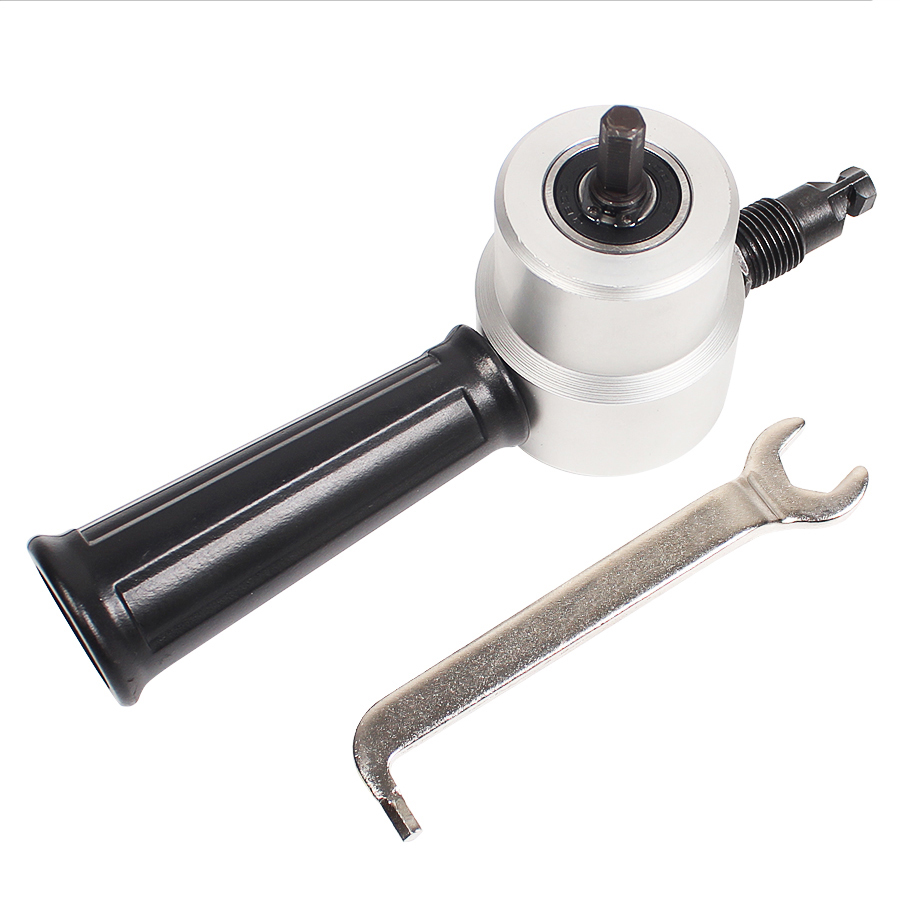 Nibble Metal Cutting Double Head Sheet Nibbler Saw Cutter Tool Drill Attachment Free Cutting Tool Nibbler Sheet Metal Cut