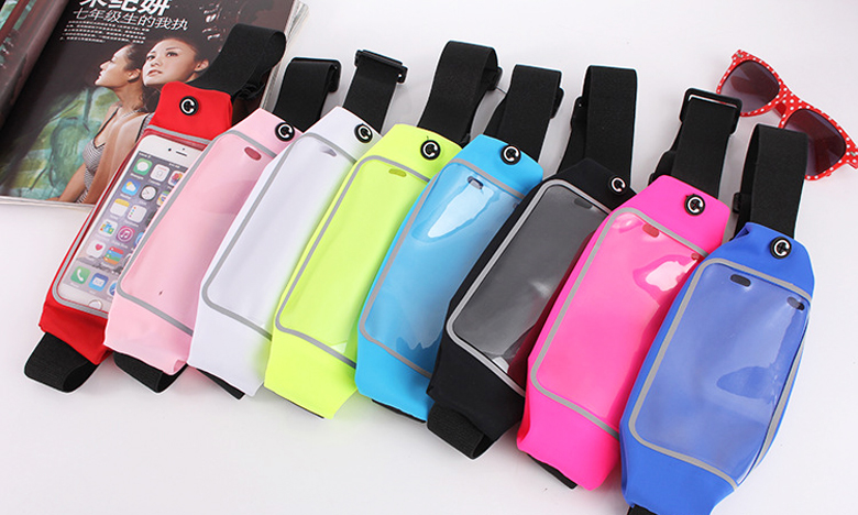 Gym Waterproof Waist Clip Mobile Phone Case Touch Screen Bags For BlackBerry Leap,Oppo Find 5 X909,Asus PadFone S,ZOPO Flash C/S