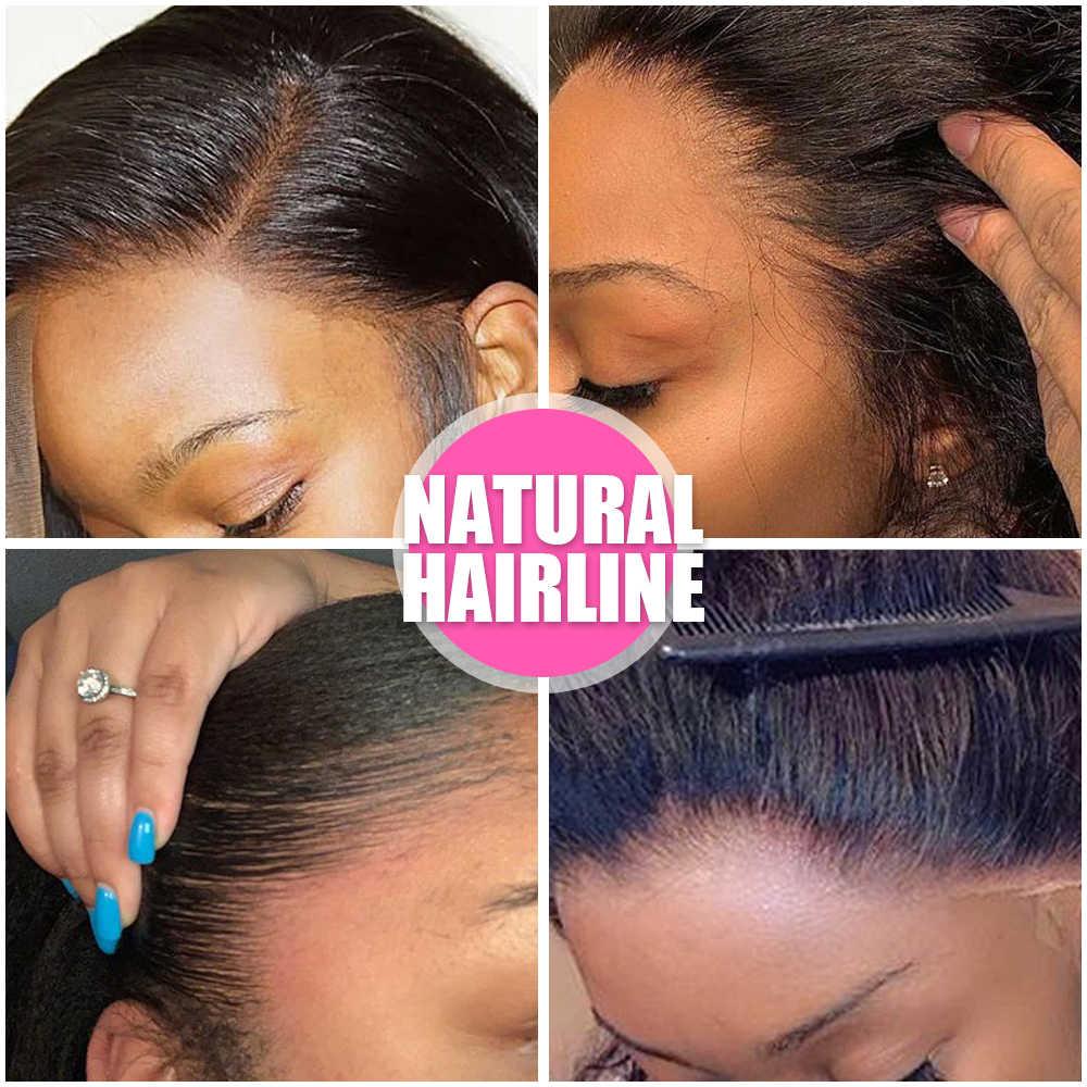 Peluca Frontal de encaje 360 rizadas pelucas de cabello humano Pre desplumadas con pelo de bebé 180% pelucas frontales de encaje Remy brasileño para mujeres