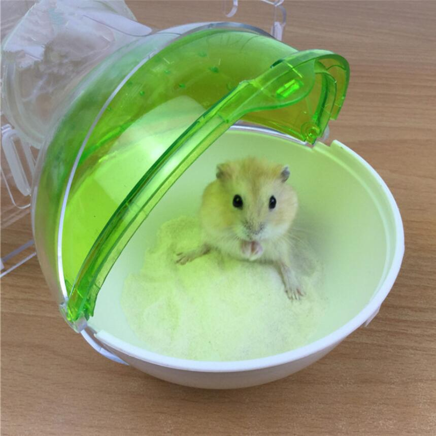 1pcs Hamster Bathroom Ball Shape Small Pet Toilet Bathtub Rat Mouse Activity Room Pet Bath Tub Hamster Supplies