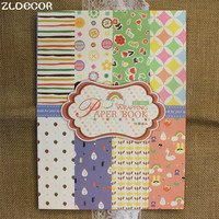 ZLDECOR Lovely Childish Patterns Decorative Gift Wrapping Paper Book Mixed Designs Festival Gift Packing Paper Kit 16sheets/lot