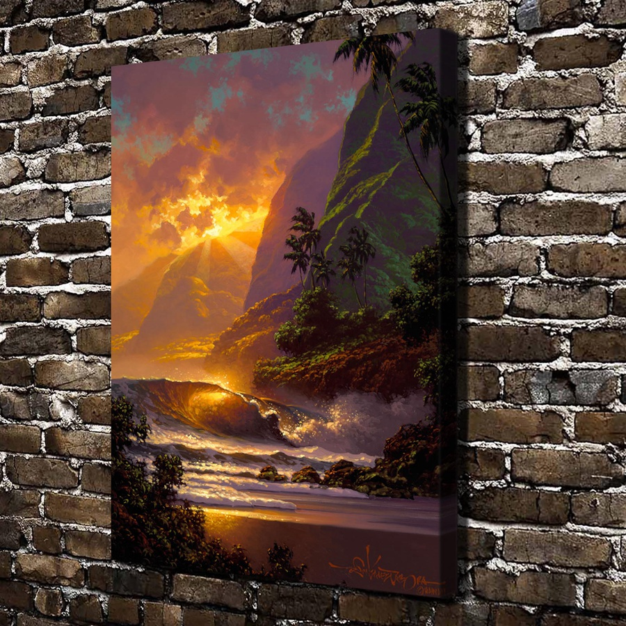 GM-5 Roy Gonzalez Tabora Sunrise Tree Scenery .HD Canvas Print Home decoration Living Room bedroom Wall pictures Art painting