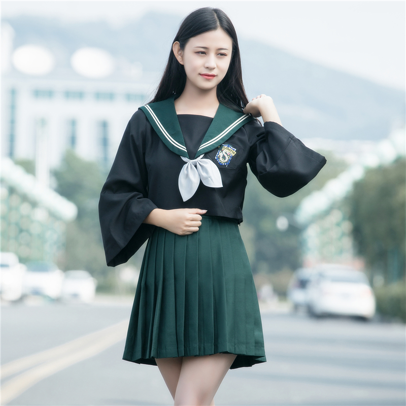 New College Style Long Sleeve Sailor Suit Japanese JK School Uniforms Girls Novelty School Uniform Cosplay Sets