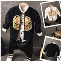 2016 boys and girls fall fashion folk style dragon zipper Sweater Jacket Free Shipping