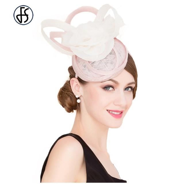 Vintage Fascinator Pink Linen Banquet Cap Elegant British Style  Aristocratic Pillbox Hat For Women Wedding Dress 2f972f3e9959