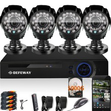 DEFEWAY 1080N HDMI DVR 1200TVL 720P HD Outdoor Home Security Camera System 1TB 8CH Video Surveillance DVR AHD CCTV Kit
