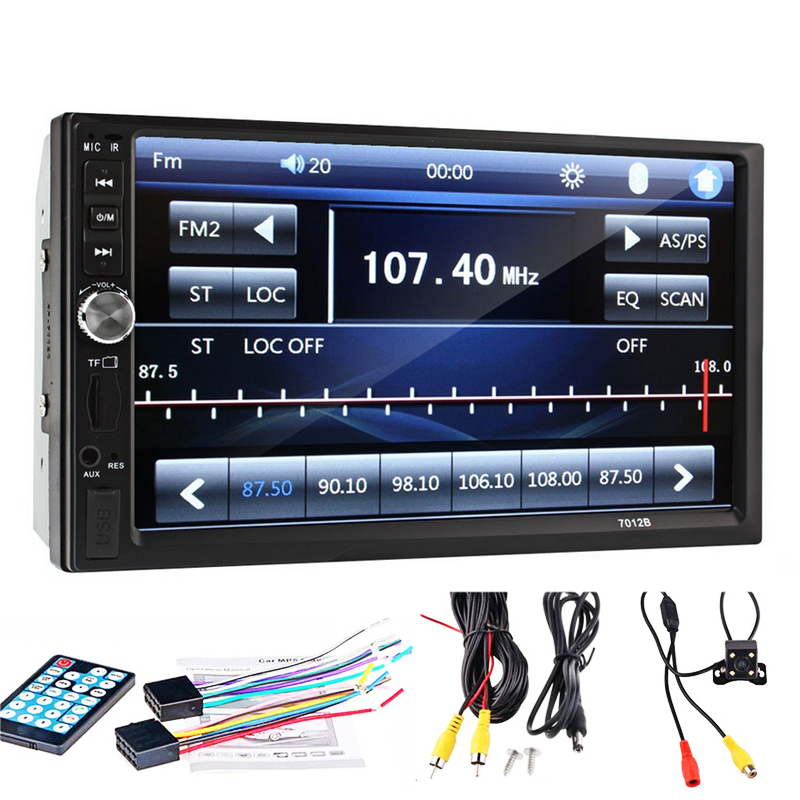 2 Din Car Video Player 7 Inch Touch Screen Multi Fuctuon Dual Core MP5 Player Rear