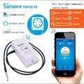 Умный Wi-Fi выключатель Itead Sonoff TH 10A/16A  контроллер с температурным водонепроницаемым монитором влажности  модуль умного дома