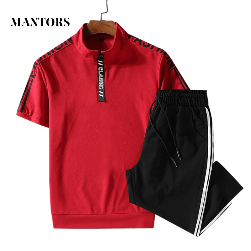 Men Casual Set 2019 Summer New Sweatshirts+Pants 2PCS Comfortable Tracksuit Men's Sportswear Jogger Solid Sets Clothing Brand