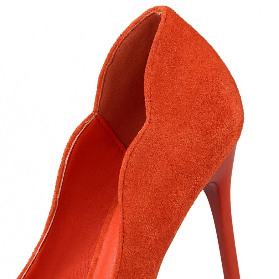 Mujer Spike red orange Otoño Boda Tacones gray Zapatos pink De Dedo green Partido Del Black Mujeres 2018 Pie Altos Bombas Sexy Punta Bq7817w