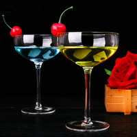 2pcs Cocktail Crystal Glass Cup Creative Flying Saucer Margaret Cups Wine Goblet Shot Birthday Christmas Gift Utensil