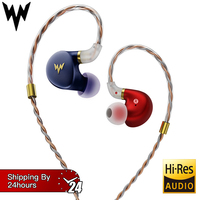 Whizzer A HE03 HiFi Bass Earphones Hi Res Headsets Hybrid Armature 2Pin Connector 3.5mm In Ear Monitors HiFi Earbuds