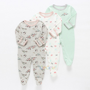 Image 4 - Baby Girl Romper Newborn Sleepsuit Flower Baby Rompers Infant Baby Clothes Long Sleeve Newborn Jumpsuits Baby Boy Pajamas