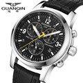 Guanqin relógios de luxo homens marca de topo de negócios famoso relógio automático para os homens de aço inoxidável grande mostrador do relógio relogio masculino 2016