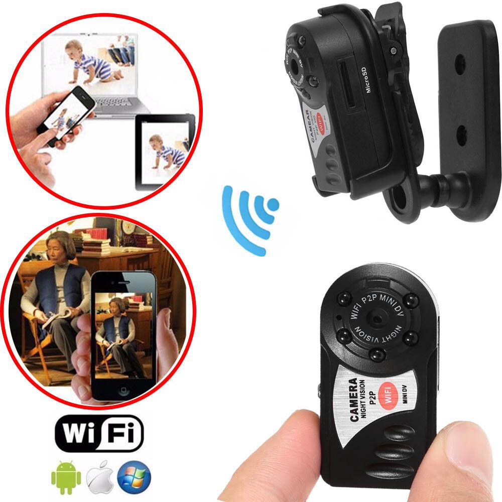 8G Card+Mini Q7 Camera 720P Wifi DV Wireless Camcorder Recorder Infrared Night Vision8G Card+Mini Q7 Camera 720P Wifi DV Wireless Camcorder Recorder Infrared Night Vision