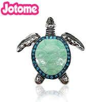 10/20 piezas 48mm lindo Diamante de imitación verde esmalte mar tortuga encanto plata-tono Animal colgante