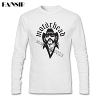 Men Tee Shirt O Neck Long Sleeve Cotton Heavy Metal Band Motorhead Awesome Tee Shirts Mens