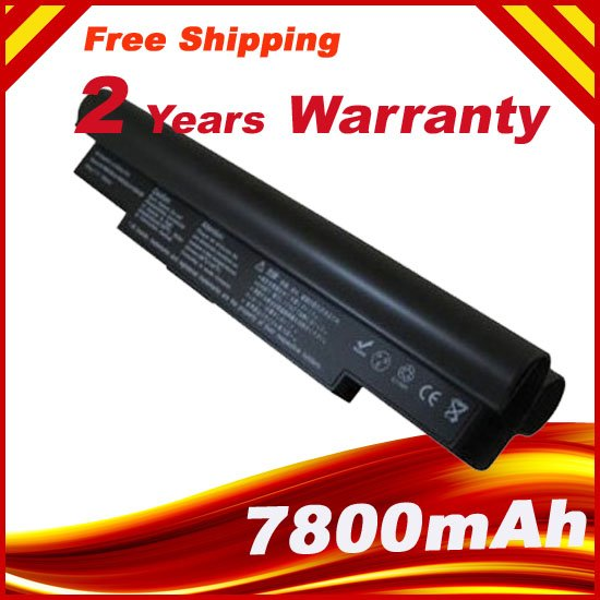 7800mAh Laptop Battery For Samsung NC10 NC20 ND10 N110 N120 N130 N135, AA-PB6NC6W,1588-3366,AA-PB8NC6B AA-PB8NC6M AA-PL8NC6W