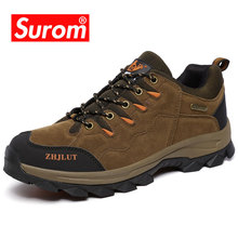 SUROM Brand Men Autumn Winter Plush Warm Leather Casual Shoes Breathable Non-slip Sneakers Unisex Outdoor Footwear Size 36-47