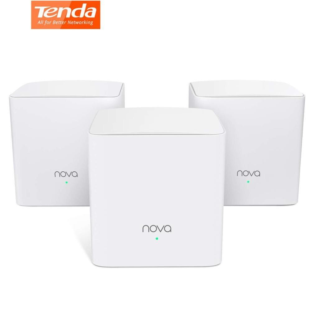 Tenda Nova MW5S Mesh AC1200 système de réseau WiFi à domicile complet routeur sans fil double bande pont Wi-Fi pour la couverture Wifi de toute la maison