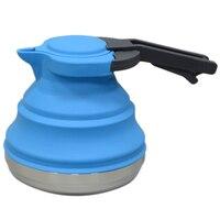 المحمولة للطي سيليكون غلاية المياه 1.5L براد مياه التخييم في الهواء الطلق السفر التنزه أدوات مطبخ غلاية قهوة الشاي|غلايات كهربائية|   -