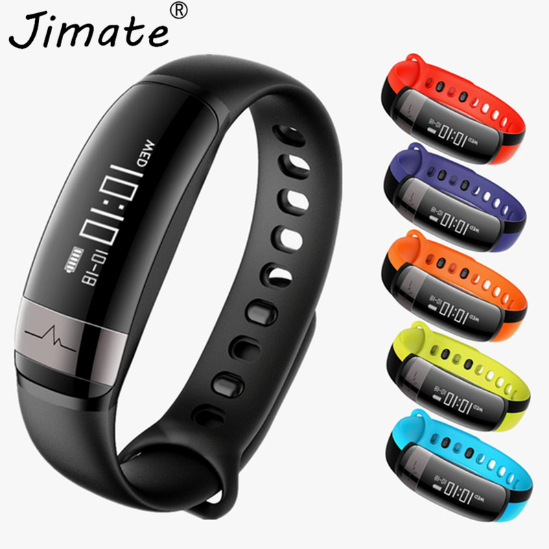 Jimate Heart Rate Monitor Smart Wristband Blood Pressure Fitness Tracker Armband Step Counter Band Bracelet For Iphone Android v07 smart wristband band heart rate monitor blood pressure bracelets fitness tracker smartband for android ios vs fibit miband 2