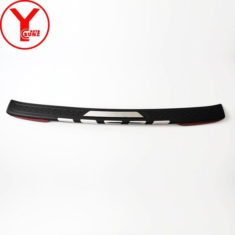 Nero posteriore della copertura del respingente Per mitsubishi pajero sport 2016 2017 2018 posteriore passo car styling accessori Per montero sport YCSUNZ