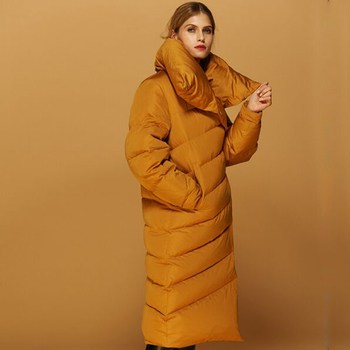High Quality 2018 New Women's Winter Coat Long Outwear 90% White Duck Down Parka Womens Down Jackets