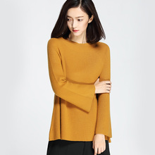 fashion women loose flare sleeve cashmere knitted sweaters and pullovers -MK16019
