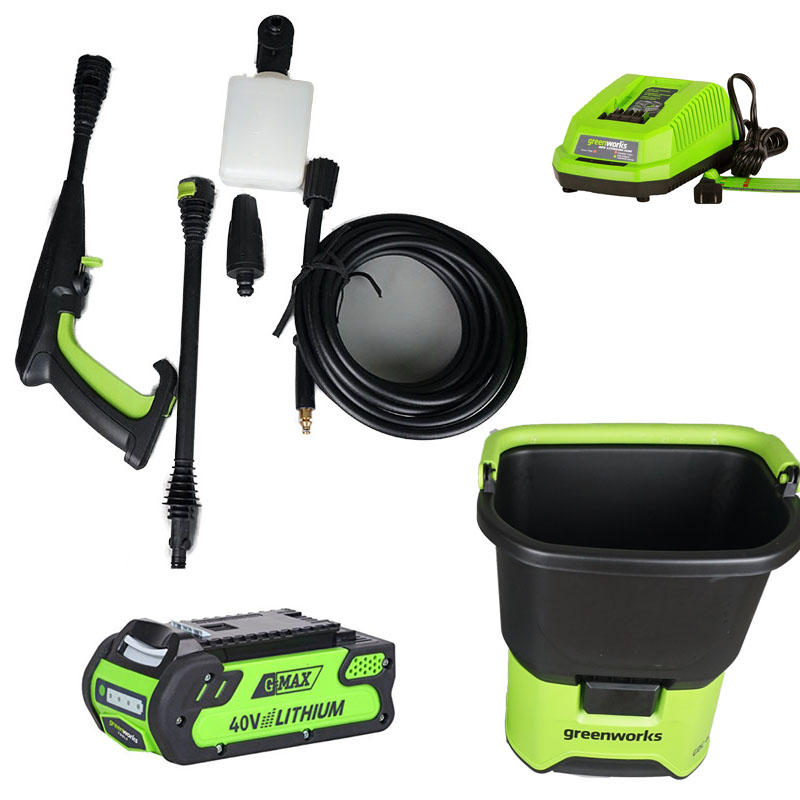 Greenworks cordless 40V Household Portable 70bar High Pressure Car Washer Washing Machine Electric Washing Device