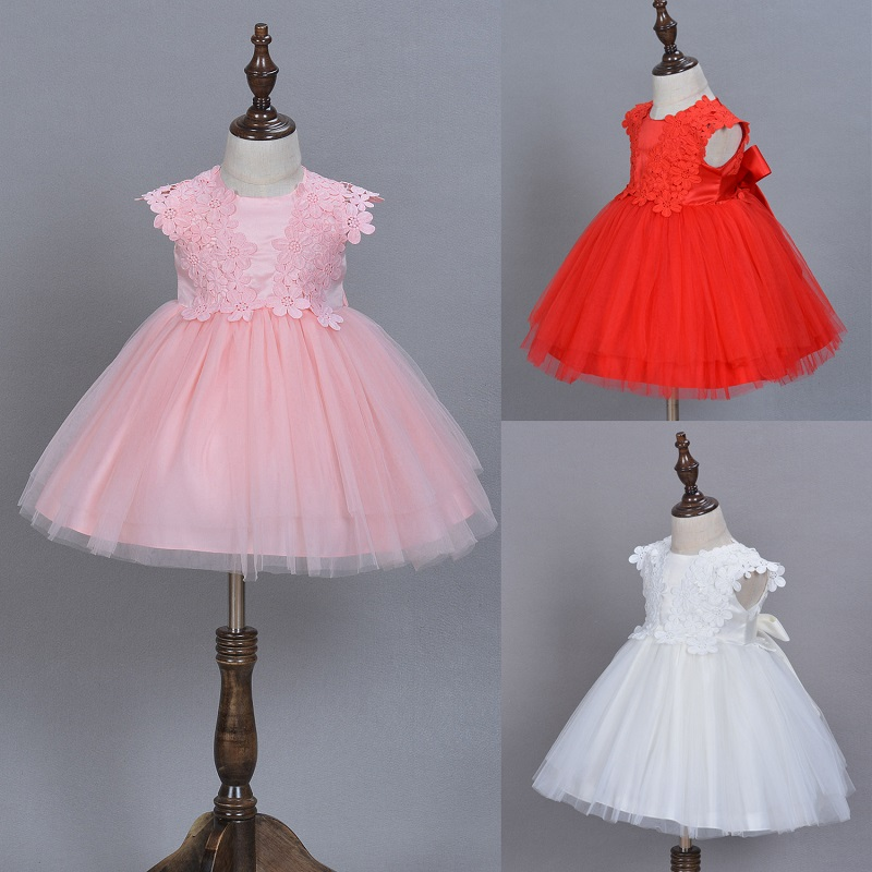 Girl clothing Dress Birthday Outfits Infant Wedding Gown Baby Girls Clothes Baby Tutu dress summer Princess Party Dresses