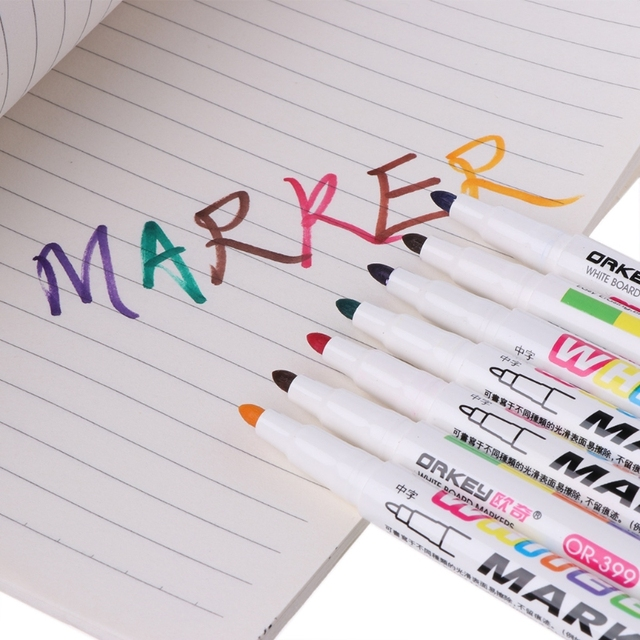 12 Colors Whiteboard Marker Non Toxic Dry Erase Marker Sign Fine Nib