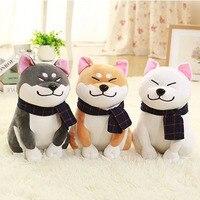 Neue Stil 1 STÜCK 25 cm Tragen Schal Shiba Inu Hund Plüschtier Weiche Angefüllte Hund Spielzeug Gute Valentines Geschenke für Freundin