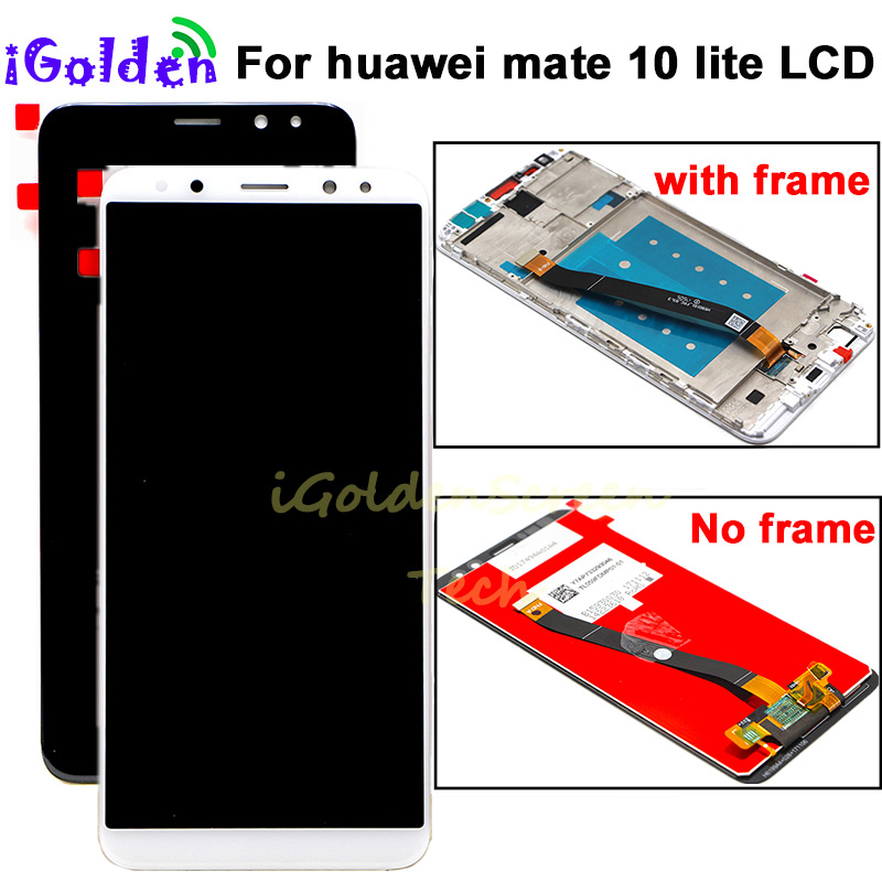 HTB1q8C6ubSYBuNjSspfq6AZCpXaN pantalla For Huawei Mate 10 Lite LCD Display Touch Screen Digitizer Screen Glass Panel Assembly with frame for Mate 10 Lite lcd