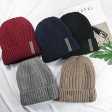 winter hat for mens adults warm knitted cap boy skullies beanies casual plain soft knit solid beanie skullcap