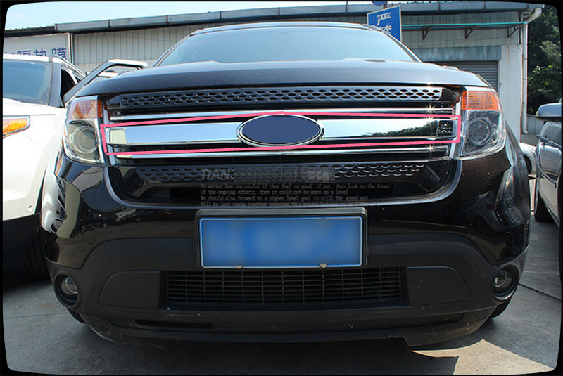 abs chrome front center grille grill cover trim for ford. Black Bedroom Furniture Sets. Home Design Ideas