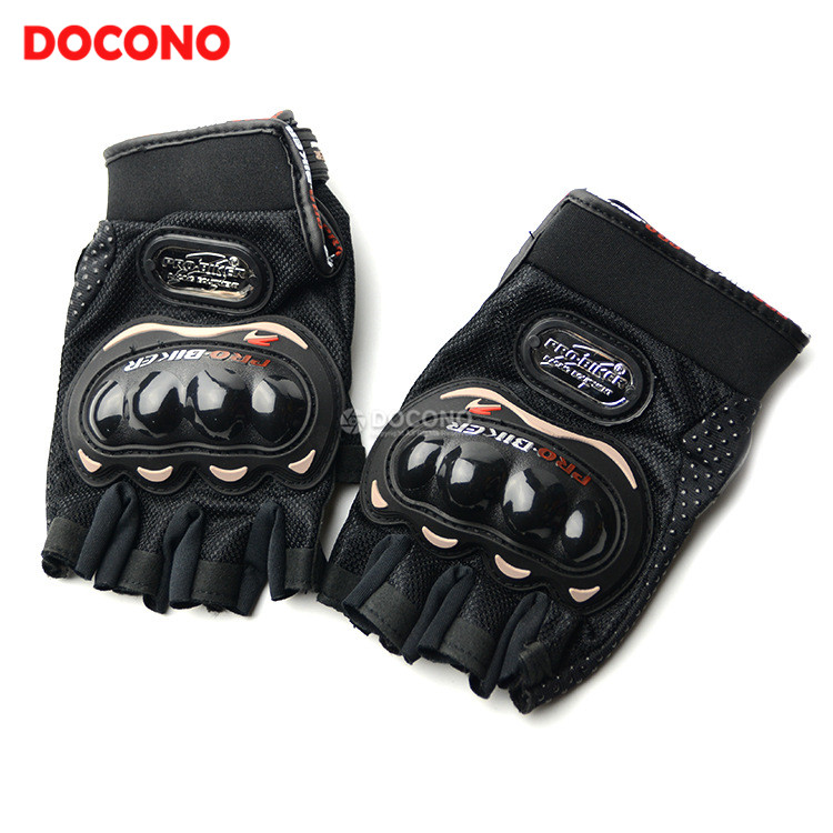DOCONO Touch Screen Motorcycle leather racing gloves Men and women gloves Mountaineering outdoor gloves Half finger gloves
