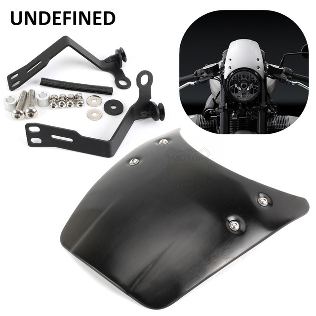 US $88 01 13% OFF|Motorcycle Accessories Black Aluminium Front Fly Screen  Headlight Fairing Cover For 2014 2015 2017 BMW R nine T R9T UNDEFINED-in