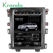 "Krando автомобильный Радио gps для FORD EDGE 2009-2014 android 6,0 12,1 ""Tesla вертикальный экран навигационная мультимедийная система wifi A/C BT(China)"