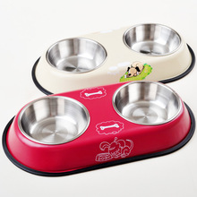 2 Sizes Dog Bowl Stainless Steel Travel Feeding Feeder Water Bowl For Pet Dog Cat Puppy Food Bowl Water Dish Stainless steel stainless steel dog bowl silver size l 1000ml