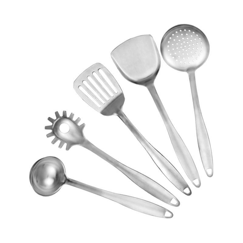 Millenarie Cookware Opera Series Sus304 Stainless Steel Kitchen Cooking Tools Gadgets Ladle Turner Spoon 6pc Utensil Set In Sets From Home