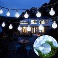 6 M 30 Led Solar Powered Led Al Aire Libre Luces de Cadena de la Bola de Cristal globo Blanco Cálido RGB Tiras de Luces de Hadas para Jardín Patio Blanco