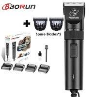 Baorun S1 высокое Мощность собака для стрижки волос профессиональная электрическая машинка для стрижки животных Триммер для кошек Уход за лоша...