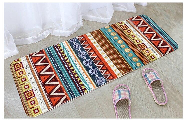 45*120cm Bohemian Floor Mat Bathroom Kitchen Carpet Anti-Slip Doormat Tapetes Para Casa Sala Area Rug For Living Room Karpet