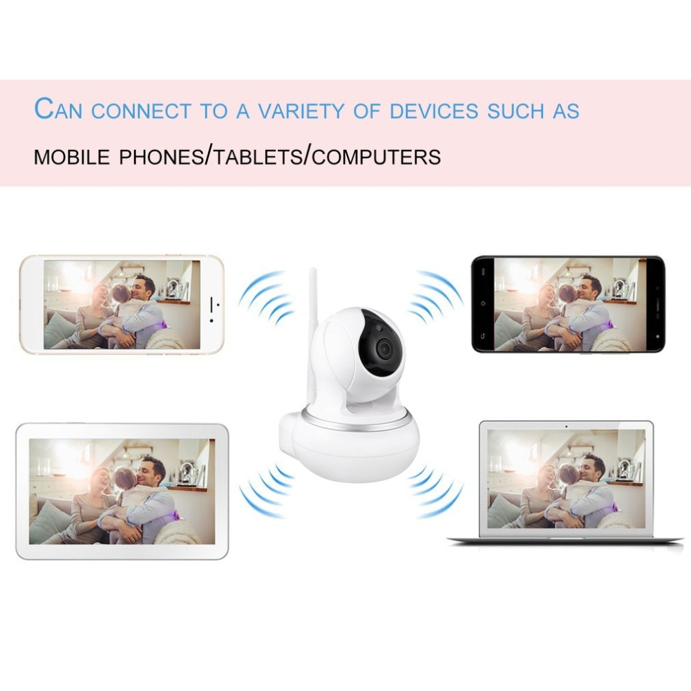 LESHP 13C-1080P Wi-Fi HD Wireless Smart Camera Home Office Monitor Sweet Family Guardian Privacy Security Multi-image Display