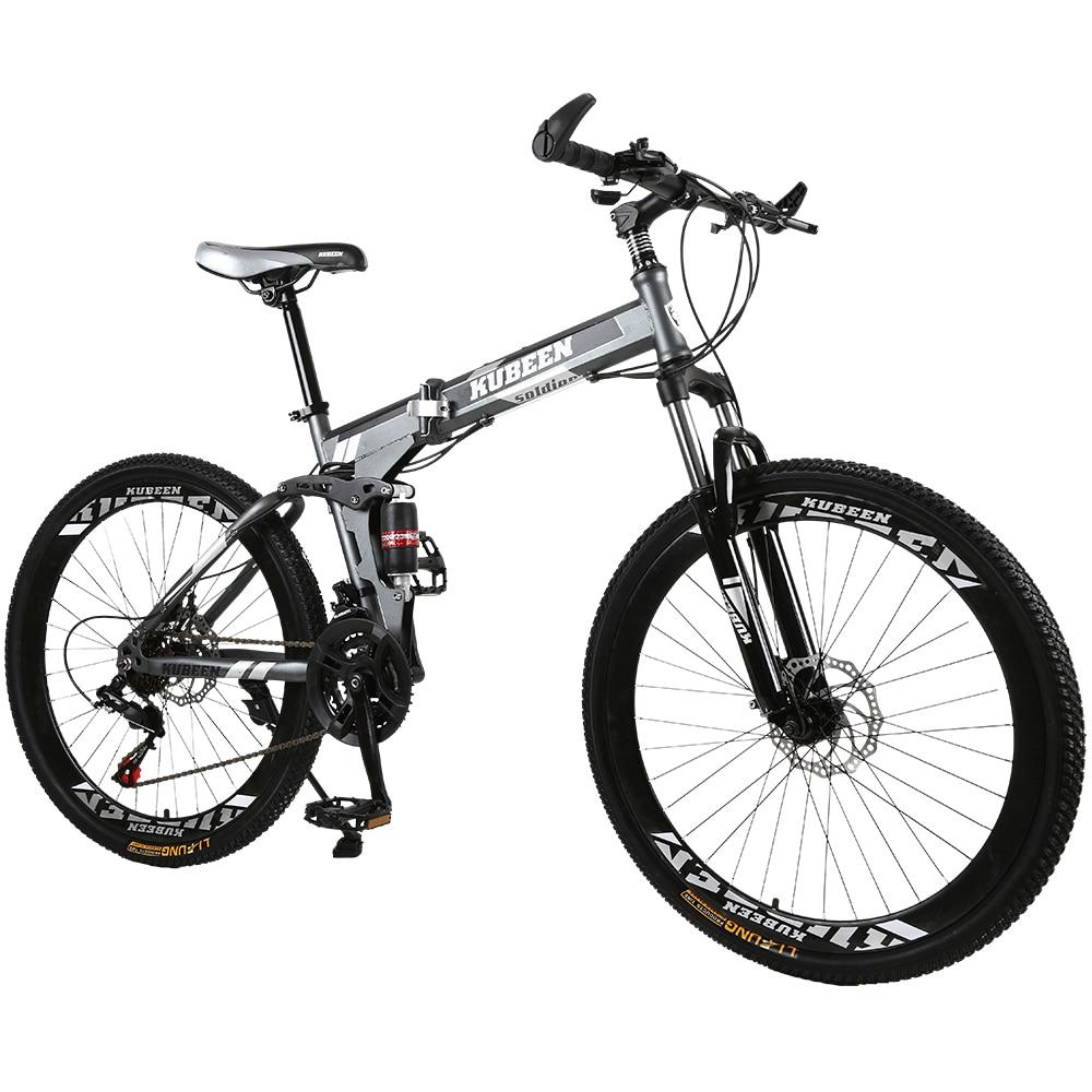 KUBEEN mountain bike 26 inch steel 21 speed bicycles dual disc brakes variable speed road bikes Innrech Market.com