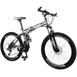Kubeen Sepeda Gunung 26 Inci Baja 21 Kecepatan Sepeda Dual Rem Cakram Variabel Kecepatan Sepeda Balap Sepeda sepeda BMX 4.2
