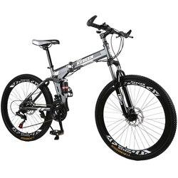 Kubeen Xe Đạp 26 Inch Thép Không Gỉ 21 Tốc Độ Xe Đạp Đôi Má Phanh Đĩa Biến Tốc Độ Xe Đạp Đường Bộ Đua Xe Đạp xe Đạp BMX 4.2